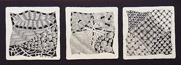 drie zentangels